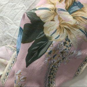 Vintage Accessories - VINTAGE/ pink floral scarf
